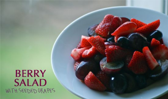 Berry Salad with Seeded Grapes
