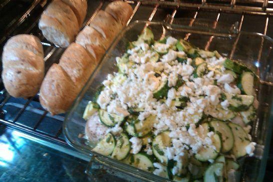 Feta Chicken with Zucchini Gremolata