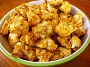 Raw Cauliflower Popcorn