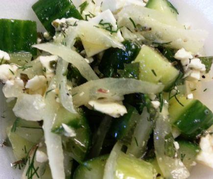 Fresh Cucumber-Feta Salad w/Mint & Dill