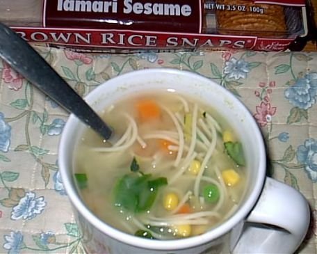 Miso Vegetable Soup with Noodles