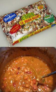 15 Bean Soup with Smoked Turkey Leg