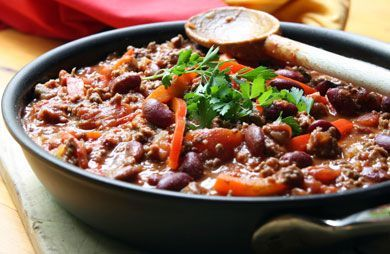 Autumn's Hearty Low-Fat 3 Bean Chili