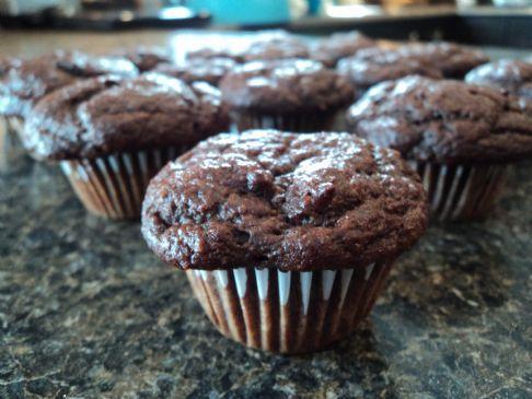 Chocolate banana baby muffins