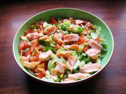 Smoked Salmon Salad on Romaine
