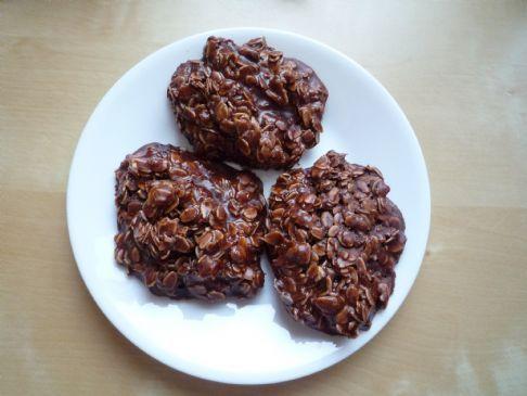 Chocolate-Oat, No-bake cookies