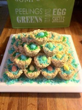 Rice Krispie Mini Egg Nests