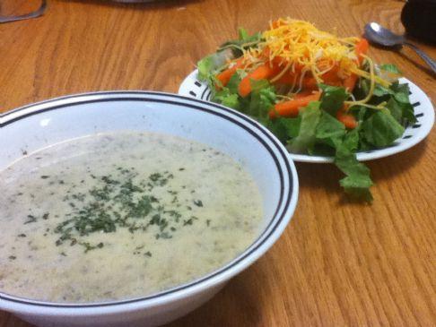 Cream of mushroom broccoli soup