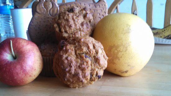 Pumpkin spice raisin bran muffins