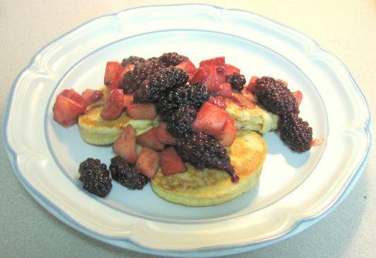 Gluten Free Apple-Blueberry Pancakes