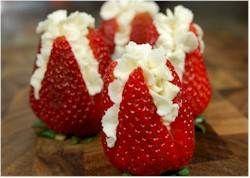 Fresh Strawberries & Cream Desert