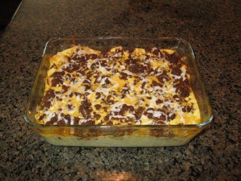 Low carb Taco quiche/souffle