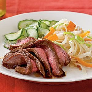 Cooking Light - Maple and Soy Glazed Flank Steak