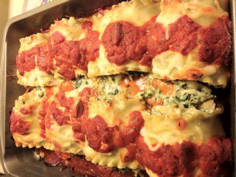 Eggplant Spinach Lasagna Rolls