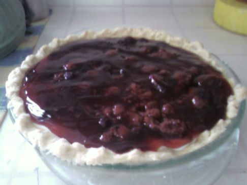 Cream Pie with Fruit Topping