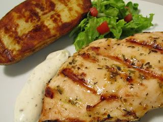 Grilled Chicken Stake with Lemon and Herbs