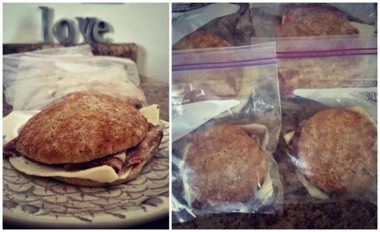 DIY Freezer Breakfast Sandwiches