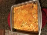Keto sausage egg casserole recipe (no heavy cream)
