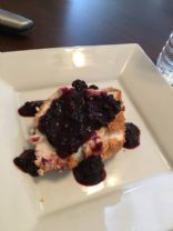 Blackberry agave angel food cake