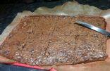 Oaty choc mint protein brownie