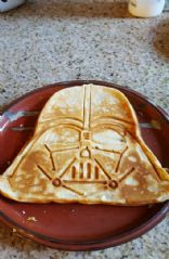 Whole Wheat Darth Vader Waffles