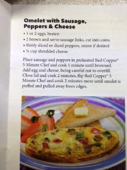 Red copper 5 minute chef recipes book