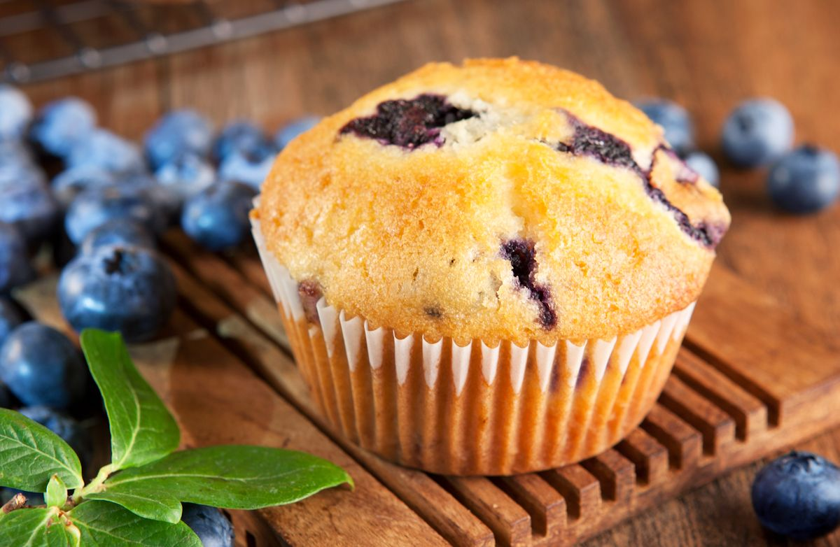 ... breakdown of 100 Calorie Blueberry Muffins calories by ingredient