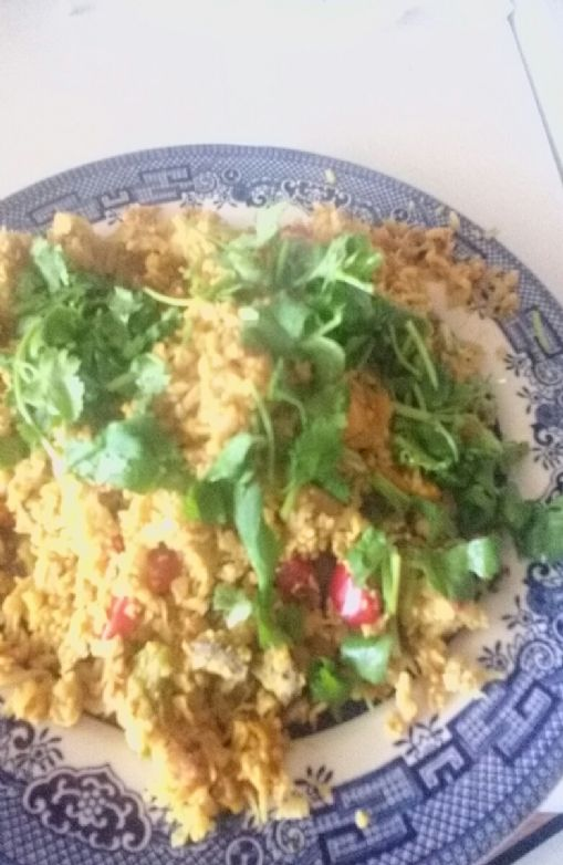 Easy low carb cauliflower fried rice