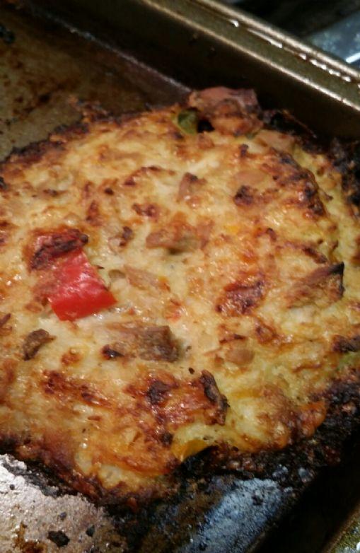 Cauliflower tuna cake low carb