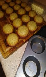 Banana bread muffins with coconut oil