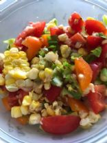 Green-Red-Yellow summer salad