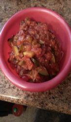 Spaghetti squash with home made sauce