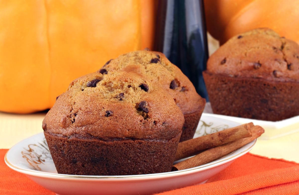 3-Ingredient Chocolate Pumpkin Muffins