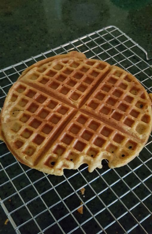 Coconut flour pumpkin waffles