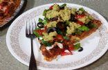 Mexican Pizza (Spaghetti Crust) 1/8 pizza