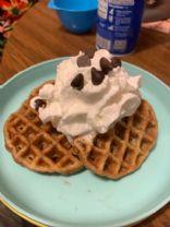 Mommies chocolate chip keto waffles