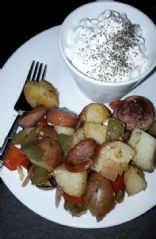 Sausage,  Pepper,  & Potato Skillet