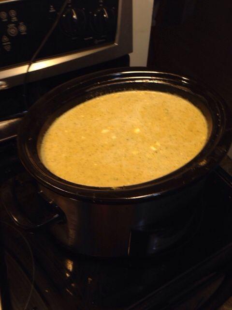 Broccoli cauliflower cheddar soup