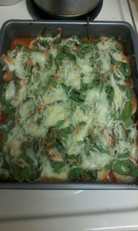 Simply easy veggie lasagna