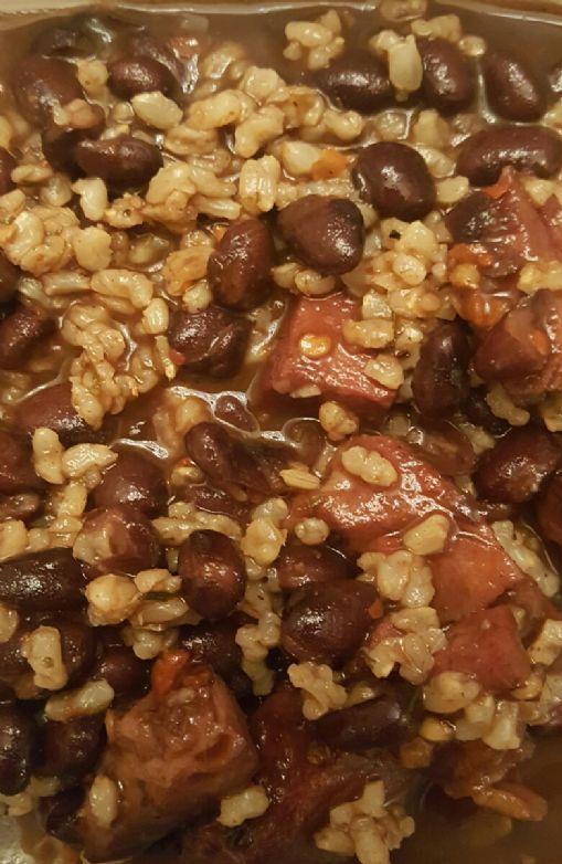 Cajun Black Beans & Rice with ham