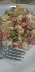 Curried tofu & edamame