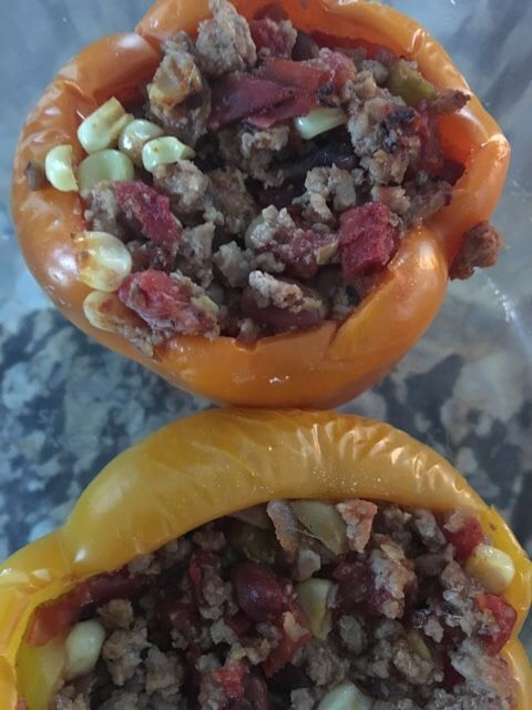 Stuffed peppers, Tex mex style