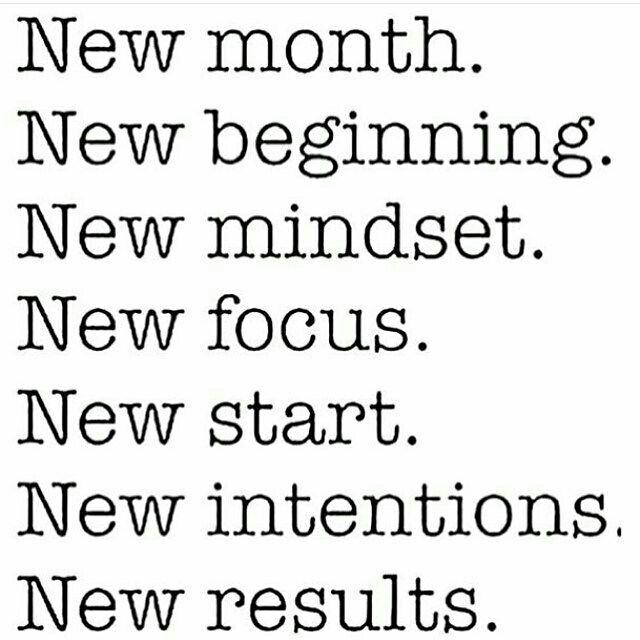 New month. New goals