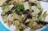 Cabbage-mushroom &Tofu stir fry