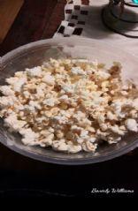 Beverly's frosting popcorn
