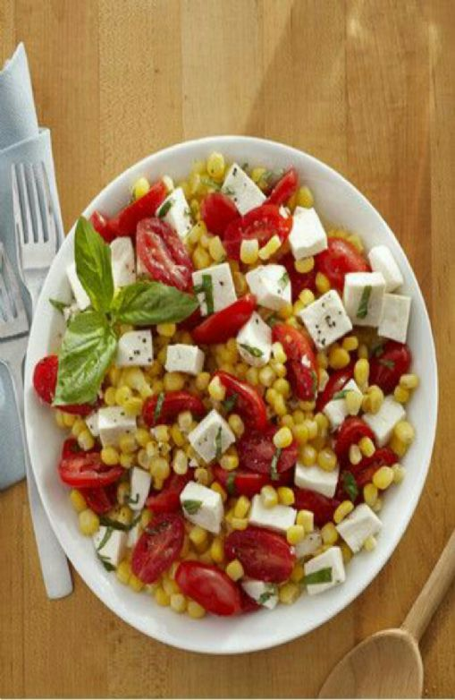 Summer Corn, Tomato, and Mozzarella Salad
