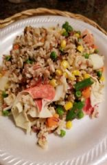 High carb low fat Crab, Grain & Veggie Medley