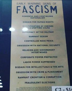 Early Signs Of Fascism >> Early Warning Signs Of Fascism
