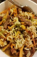 Beef-Broccoli Noodle Bowl