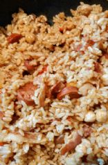 Lazy Rice, Chick Peas, Chorizo and bacon my way